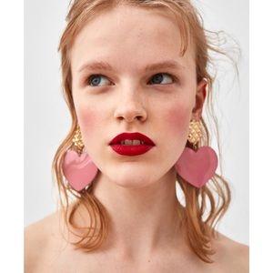 NWT Zara heart earrings
